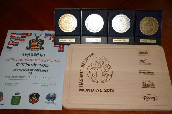 HASSELT  MONDIAL 2013 RESULTAT